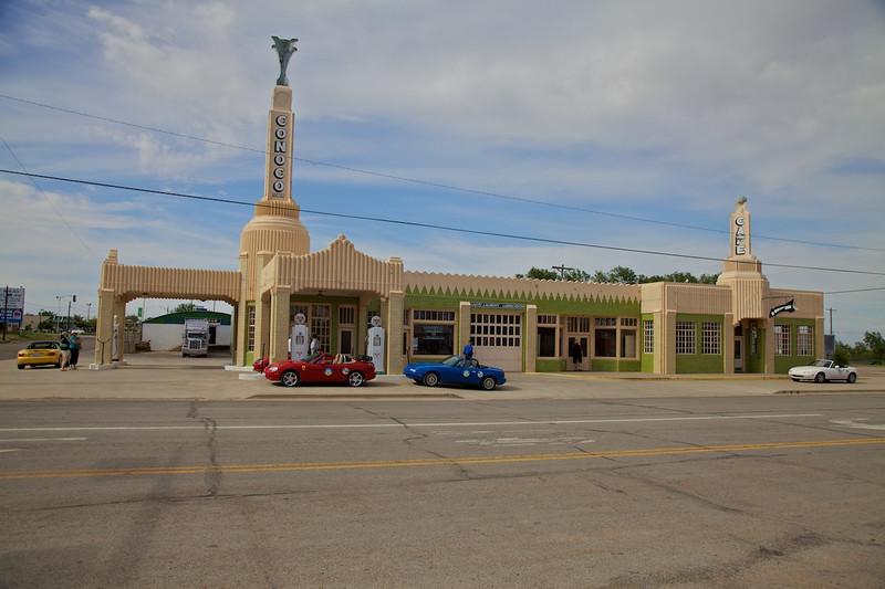 Day 7: The famous U-Drop Inn in Shamrock, TX.