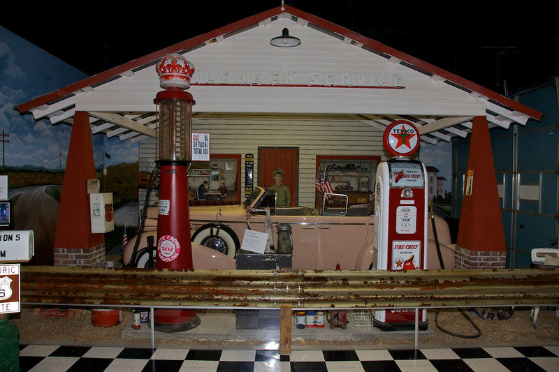 Day 5: A display at the Route 66 Museum in Lebanon, MO.