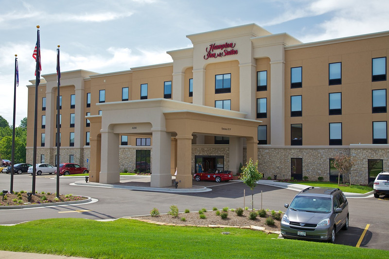 Day 3: This Hampton Inn in St. Louis was the only hotel we stayed at between Chicago and L.A. that wasn't actually on Route 66.