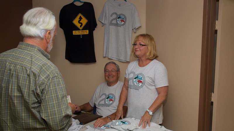 Steve & Laurie Waid with our new 20th Anniversary T-shirts.