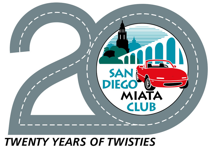 The logo that Tom Gould designed for our 20th Anniversary T-shirts.