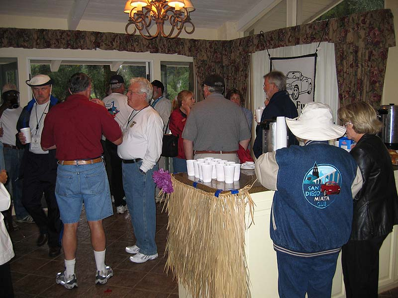 Attendees were treated to a Sunday morning continental breakfast.