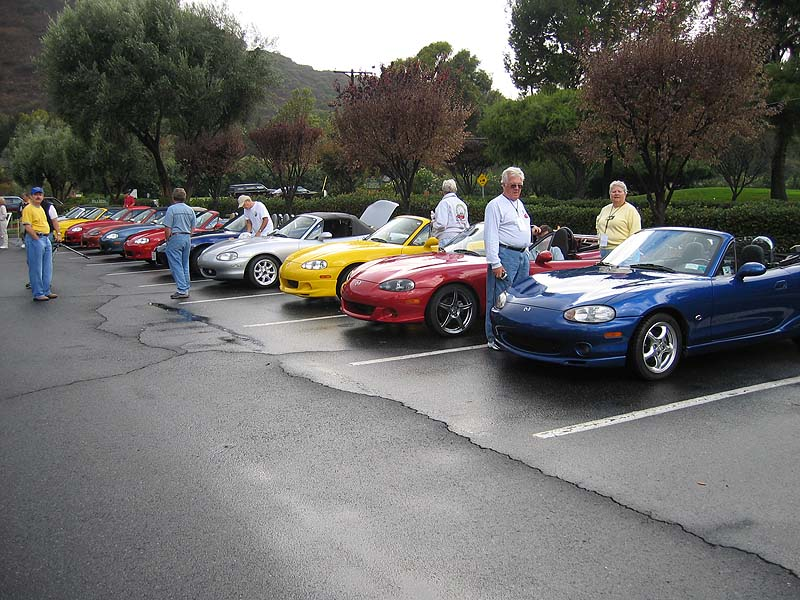 The winners of the Miata d'Elegance car show were instructed to park here.