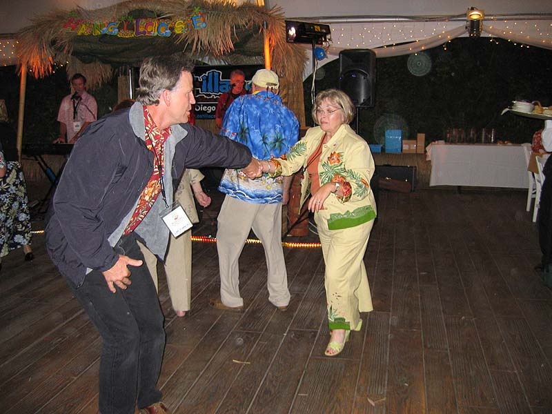 Bruce Lewis and Sue Hinkle cut a rug.