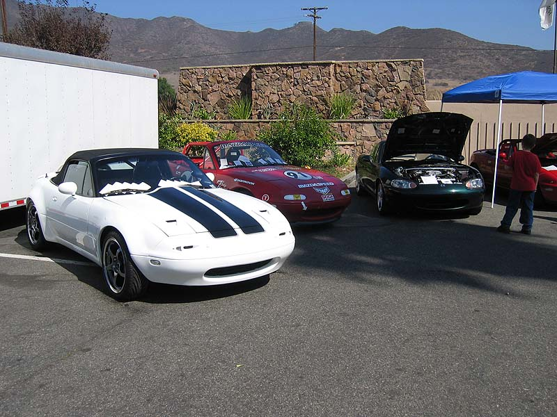 Cars from Anthony Woodford Racing and Flyin' Miata.