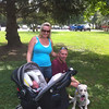 First walk in the park for the whole family.
