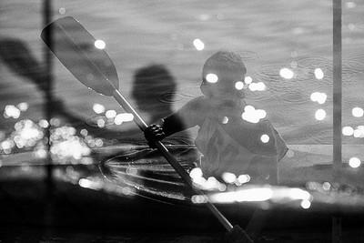 Kayak competitor