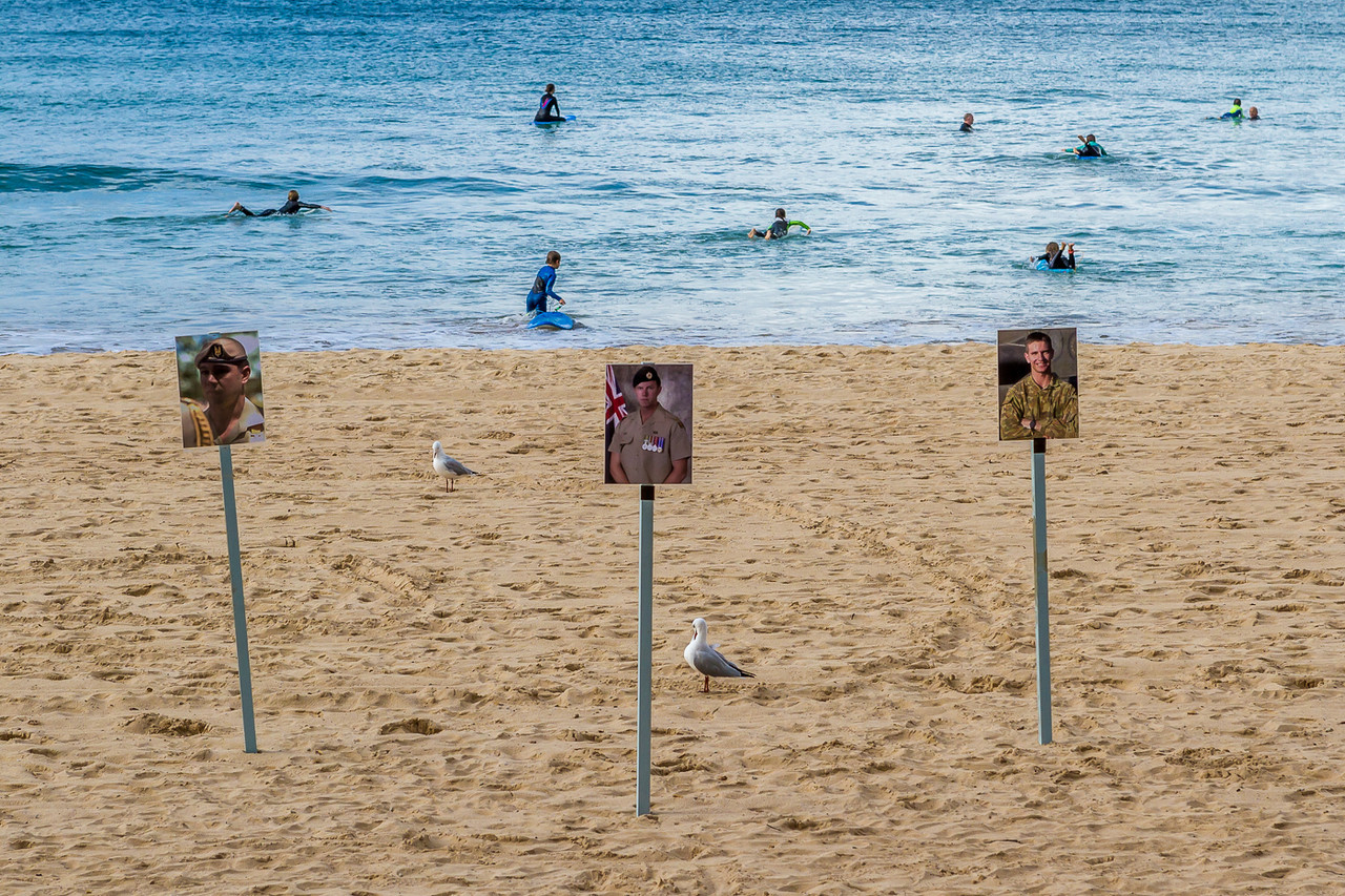 The Queen's Birthday long-weekend on Manly beach was a fundraising time for fallen Aussie heroes.