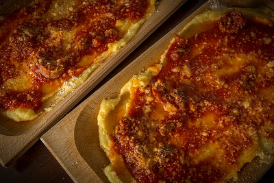 Traditional plates for serving Polenta