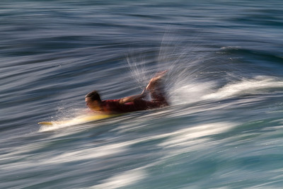 We've all seen the sharp action shots of surfers, so I tried something different!