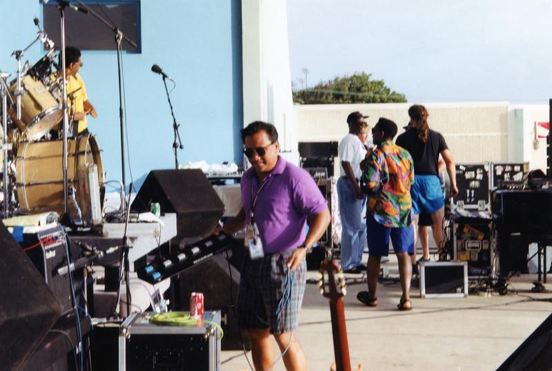 Tour manager Sonny Aberlardo.