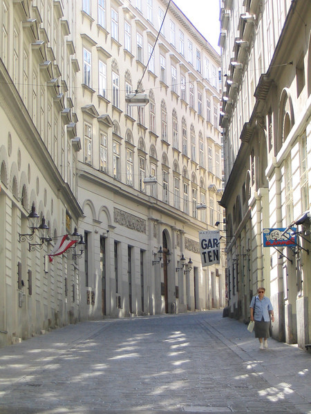 Street that led to Mozart's place.