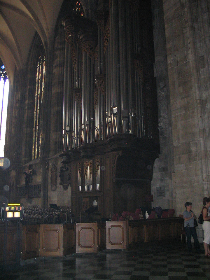 St. Stephen's Cathedral Organ - Vorarlberg organ builder Rieger has 55 registers and four manuals.