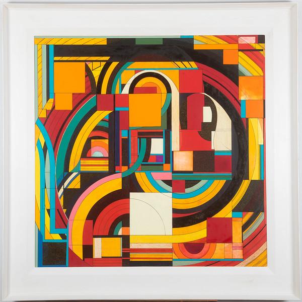 image 108 x 108 cm with frame 136 cm