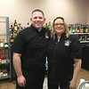 Elks bartenders Dan Adams of Tyngsboro and Cynthia Livingston of Nashua