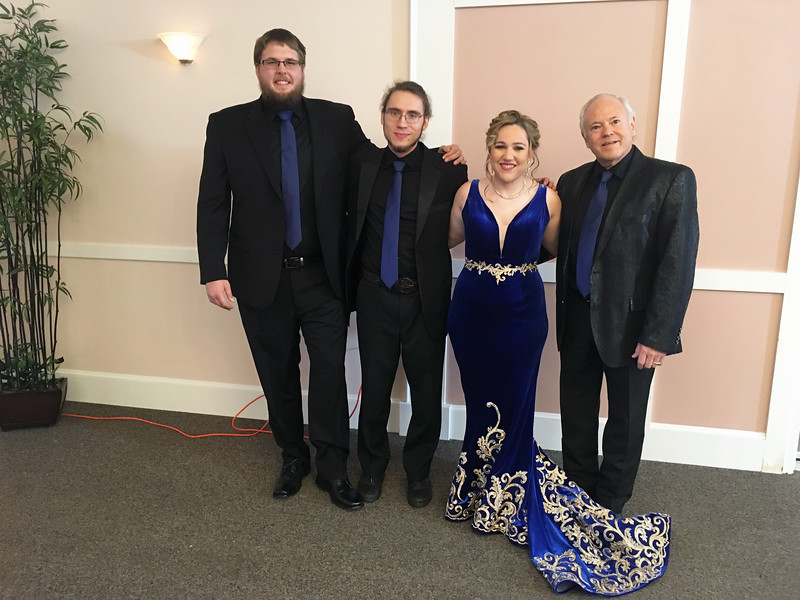 Michelle Canning and her band, from left, Aaron Foster of Tennessee, Jared Davis of West Virginia and Raymond McLain of Kentucky