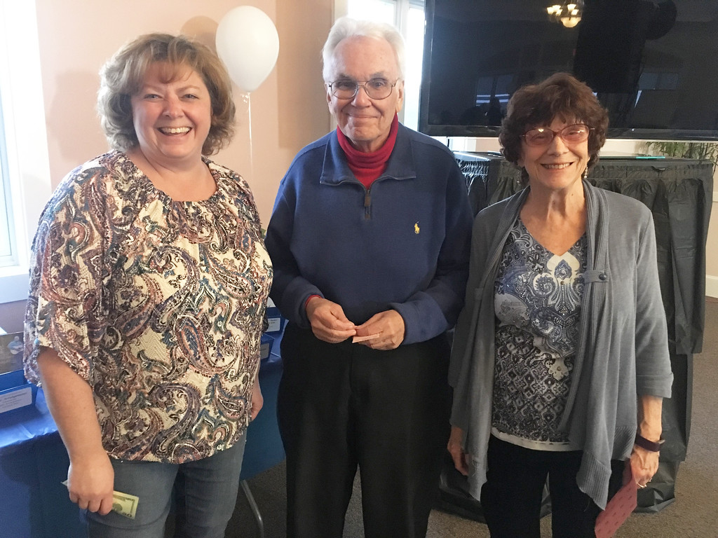 . From left, Renee Gregoire of Hudson, N.H., John Quigley of Worcester and Cherrie Westcott of Upton