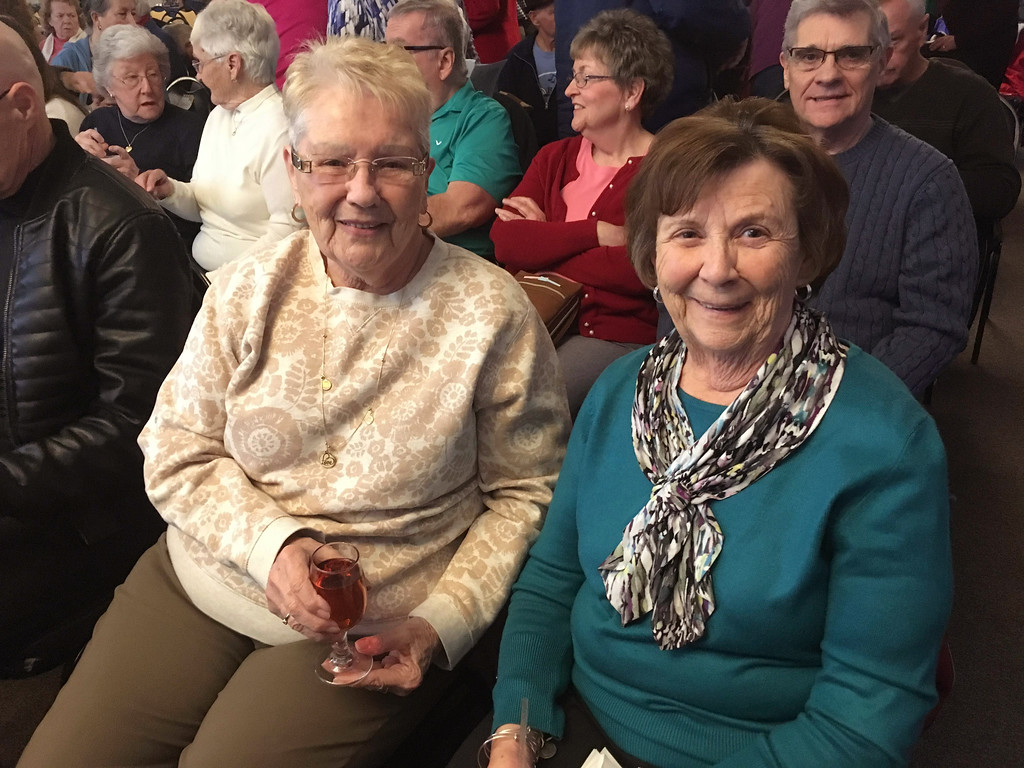 . Claire Potvin of Lowell and Fran Dowling of Hudson, N.H.