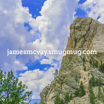 Rock outcrop at Mt Rushmore