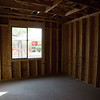 This is the inside of the room and my desk will be in the left hand corner of the wall that the window is on.  All around the room will be cabinetry.