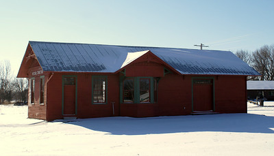 December 23 snowy depot in McCool Junction, Nebraska
