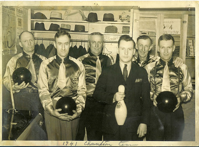 November 15 1941 champion bowlers my great grandpa is first on the left