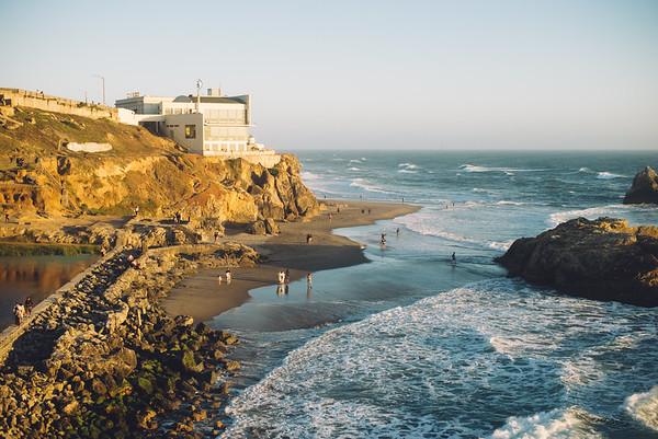 Michelle's Visit: Day 1 — Ocean Beach, Sutro Baths, Lands End