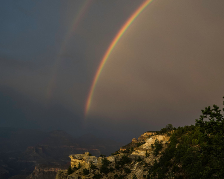 Double Rainbow  Rising from the Grand Canyon