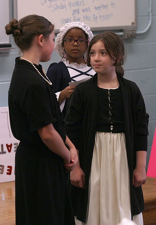 . Students perform a woman suffrage play