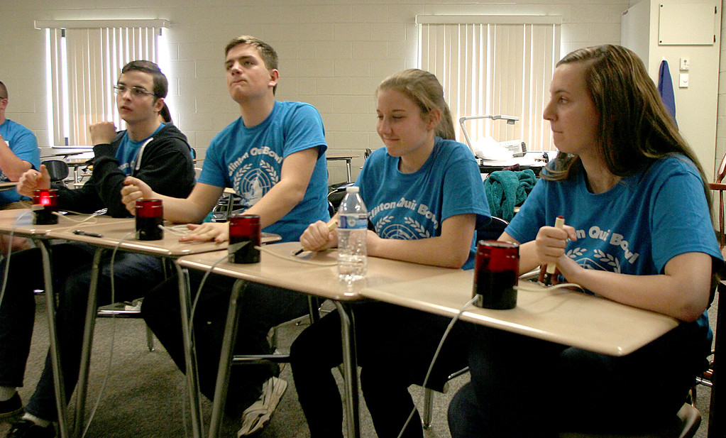 . Clinton HS Rubin Maidaniuc - Eric Dahlgren - Savanna Mott and Sadi Starnes Compete in the various Quizz bowls