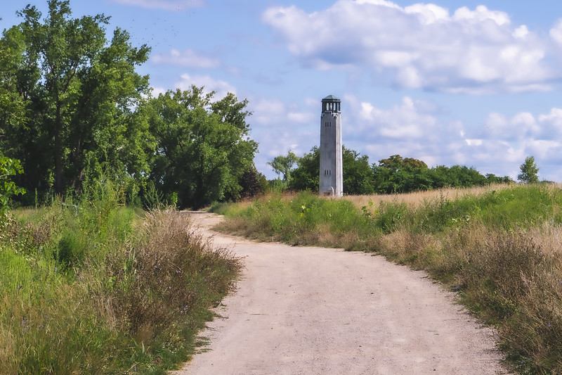 William Livingstone Memorial Lighthouse at Belle Isle State Park in Detroit Michigan
