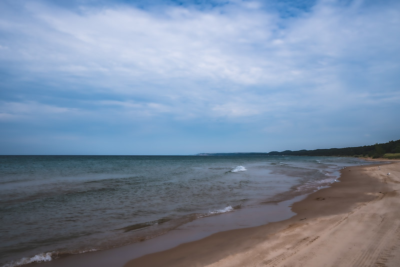 Lake Michigan at Charles Mears State Park in Pentwater Michigan