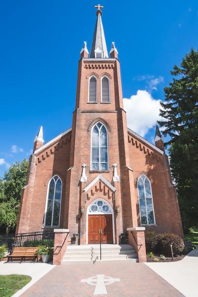 Old St. Patrick Catholic Church in Ann Arbor Michigan