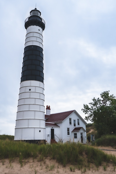 Big Sable Point Light at Ludington State Park in Ludington Michigan