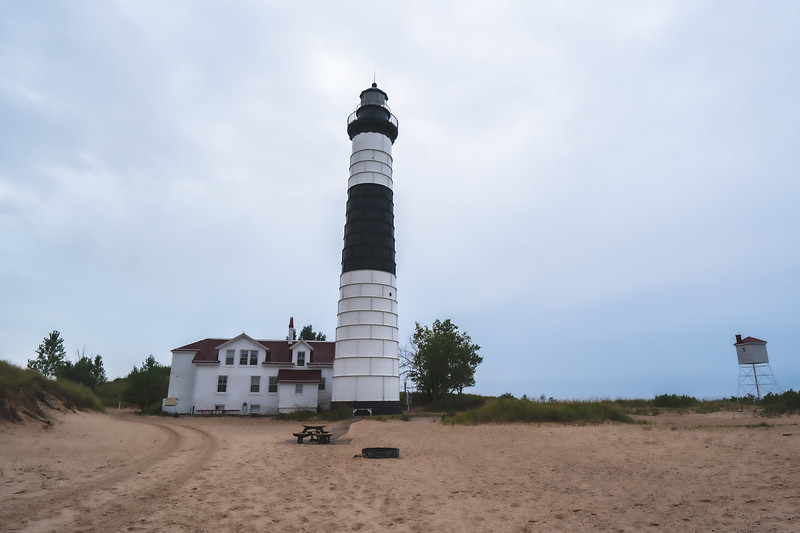 Big Sable Point Light at Ludington State Park in Ludington Michigan