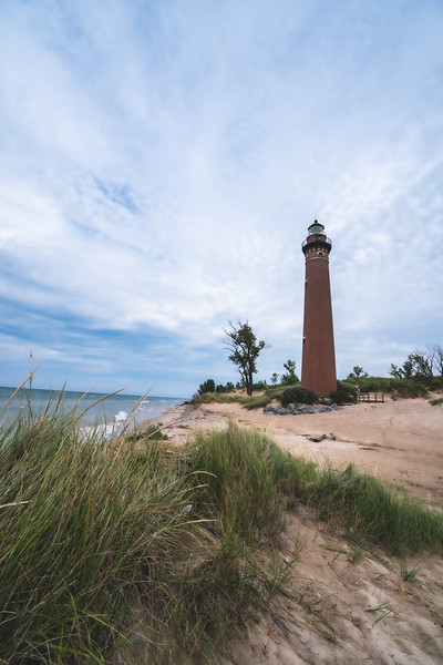 Little Sable Point Light at Silver Lake State Park in Mears Michigan