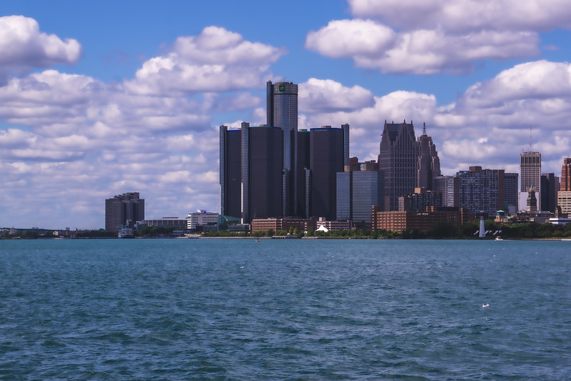 The Detroit Michigan Skyline