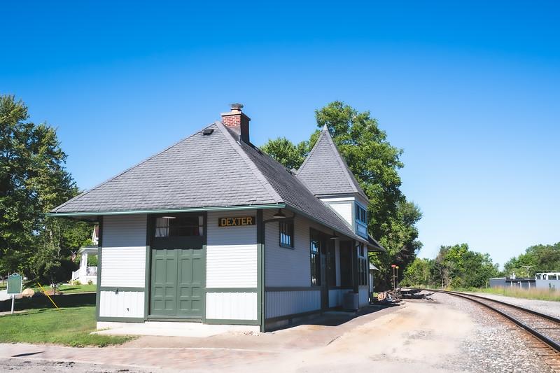 The former Dexter Depot (Historical Marker) in Dexter Michigan