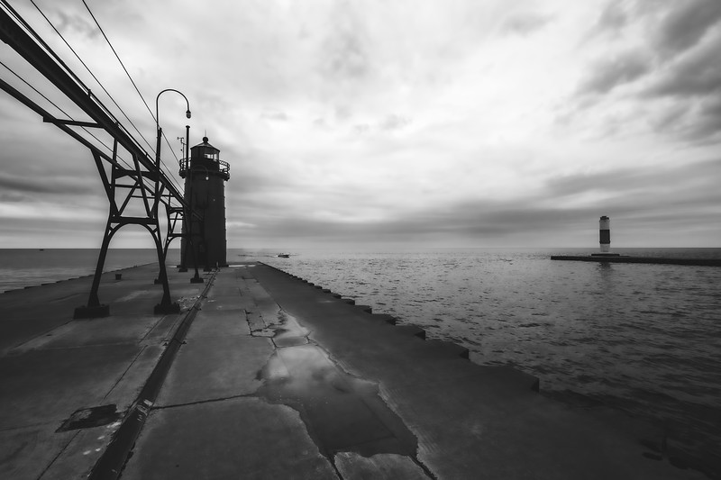South Haven Light at South Beach in South Haven Michigan