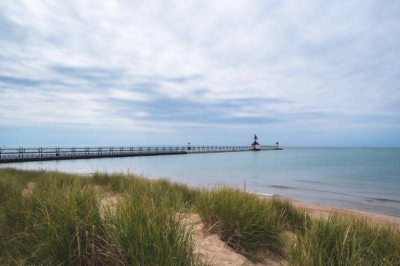 St. Joseph North Pierhead Lighthouse at Tiscornia Park in St. Joseph Michigan