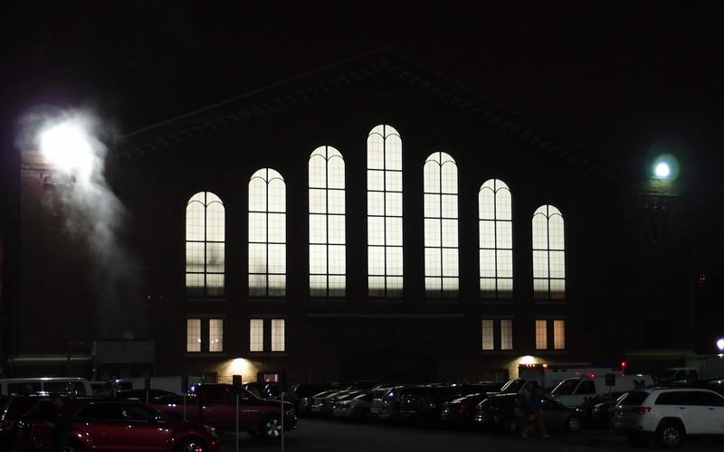 Yost Ice Arena at Night