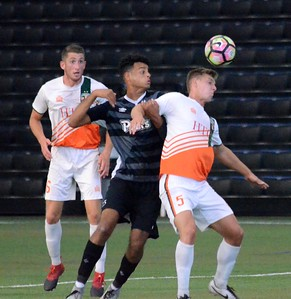 The Michigan Bucks picked up a 3-2 win over K-W United FC on Wednesday night from Ultimate Soccer Arenas in Pontiac. The win put the Bucks in clear control of the Great Lakes Division. (Oakland Press photo by Drew Ellis)
