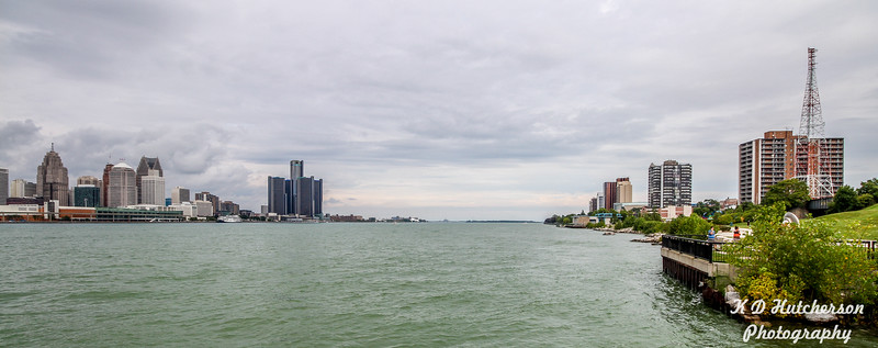 Looking East on Detroit River from Windsor, ON