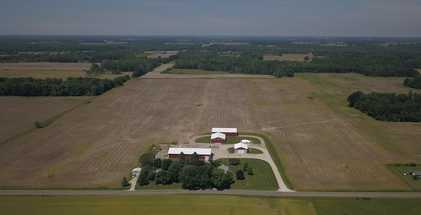 Home farm of Duane Smuts and some of his unplanted farmland.