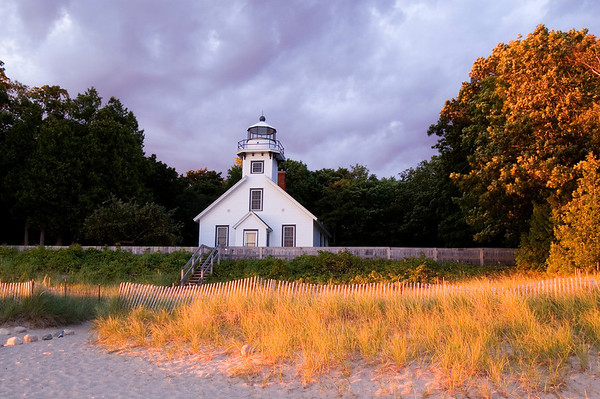 Old Mission Lighthouse at dawn