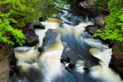 The picturesque Presque Isle River in the Porcupine Mountains.