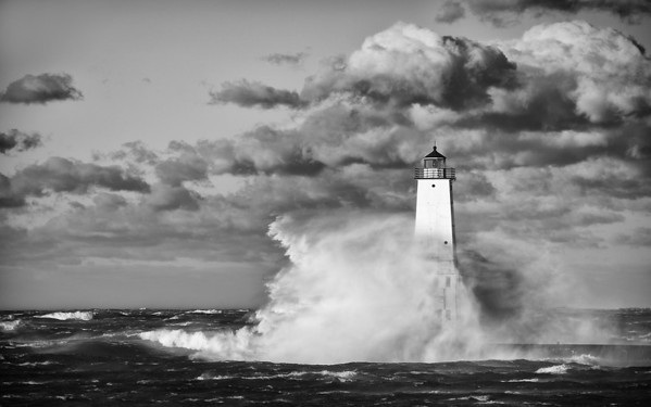 Stormy Frankfort Lighthouse