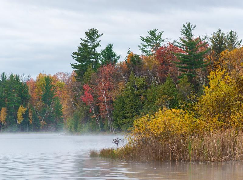 A splendid fall scene on a northern lake.