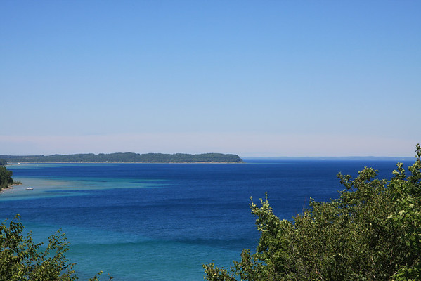 View from Mission Hills on Old Mission Peninsula in Traverse City Michigan