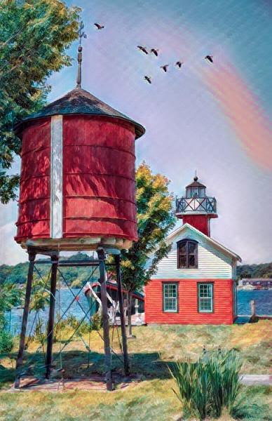 Kalamazoo Replica Lighthouse - Posterized